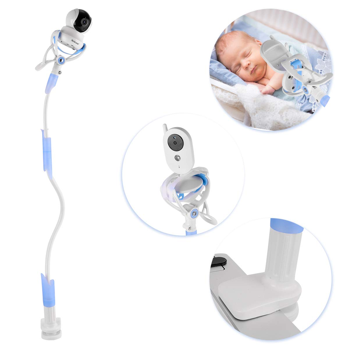 Sunix Supporto Universale per Baby Monitor, Supporto per Videocamera per Bambini, Supporto per Monitor per Bambini e Supporto Flessibile per Fotocamera per la Maggior Parte dei Baby Monitor