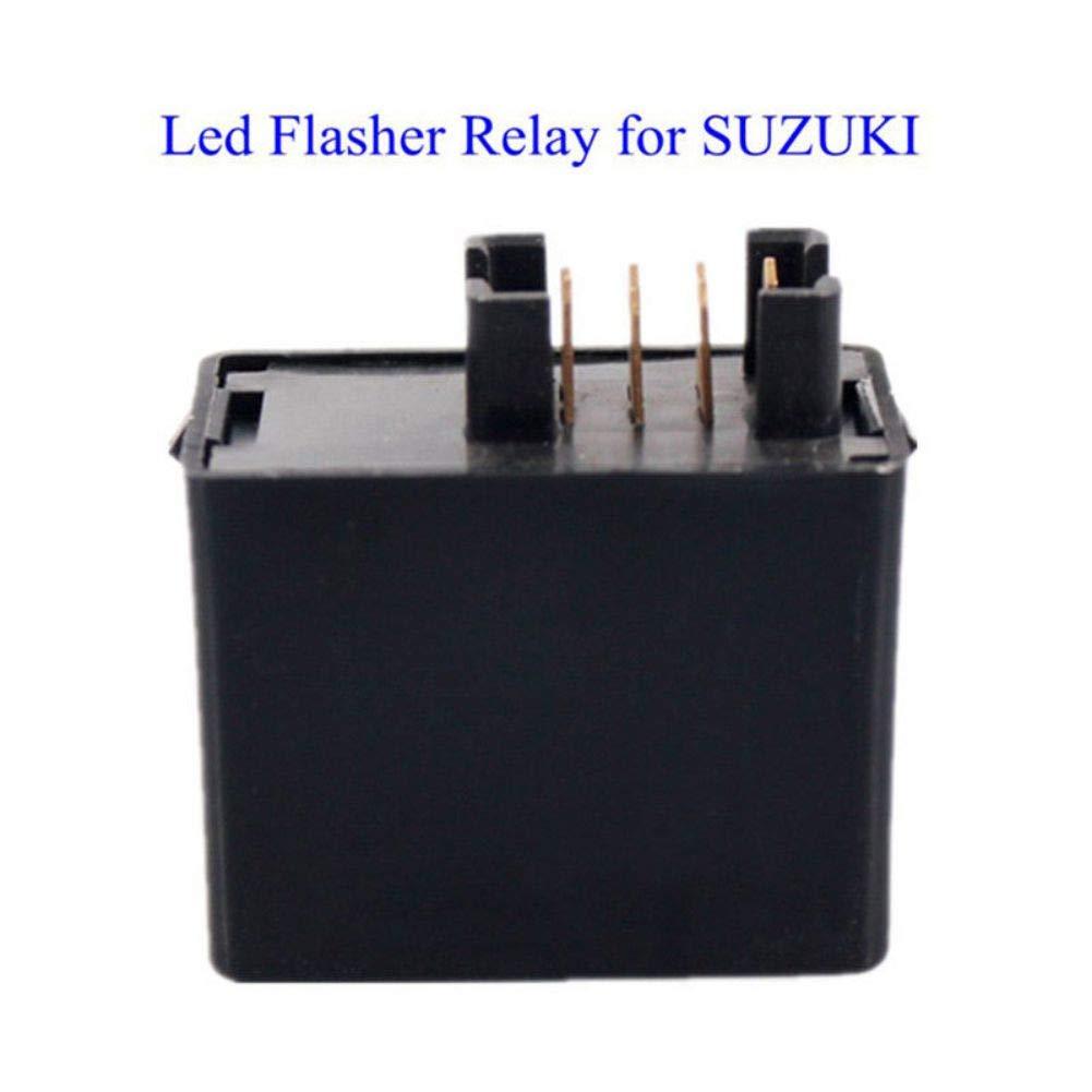 Rel/é de Intermitente electr/ónico de 7 Pines para Motocicleta con se/ñal LED para Suzuki DK006 onewell