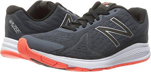 New Balance Men's Vazee Rush V2 Running Shoe, Thunder/Alpha Orange, 8.5 D US