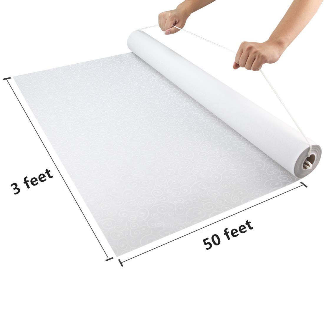 Special Occasion Show Aisle Runner White Wedding Carpet Rugs Display Ceremony Party Supply Aisle Runner Floor Runner Anti-Slip