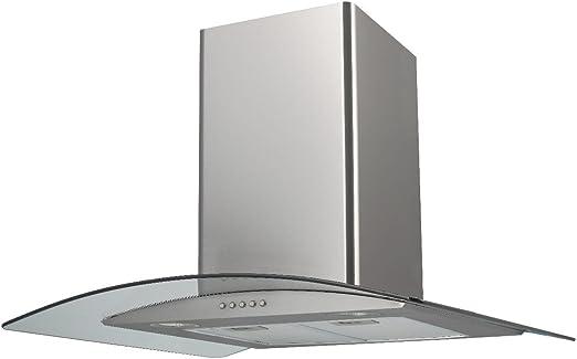 Saga eh70gs 70 cm acero inoxidable extractor de cocina campana de cristal: Amazon.es: Grandes electrodomésticos