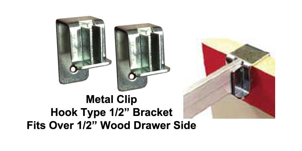 Hook type file bracket clips (4 per pkg) #5000