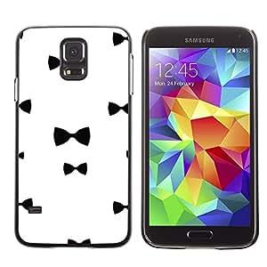 Be Good Phone Accessory // Dura Cáscara cubierta Protectora Caso Carcasa Funda de Protección para Samsung Galaxy S5 SM-G900 // Chique White Black Minimalist