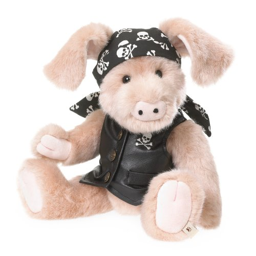 "Boyds Bears - Bears Like You Lifestyle Plush - Skully Biker Pig - 12"" -  ENESCO, 4038171"