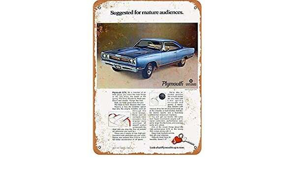 Treasun Plymouth GTX - Cartel de Metal (20 x 30 cm), diseño ...