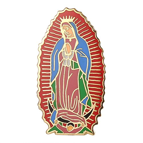 Gudeke Virgin Mary Holy Mother Religious Guadalupe Lapel Pin Badge ()