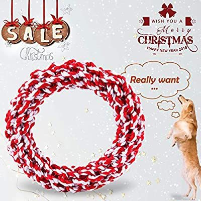 ZNOKA-Dog-Rope-Toys-Non-Toxic-100-Cotton-Tough-Dog-Chew-Toys-for-Large-Dogs-Aggressive-Chewers-Puppy-Training-Toy-Adult-Senior-Dental-Floss-Rope-for-Dogs-Dental-Health