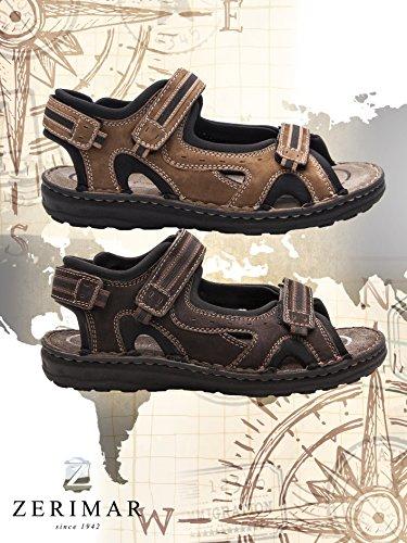 Zerimar Sandali Sandals Sandali caff Uomo Trekking da Sandali Uomo Hiking di Marrone da da da Estivi Cuoio Man Sandali da Uomo Uomo BrwB4qx