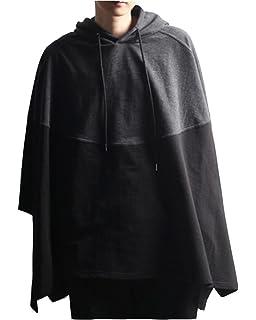 DianShao Herren Spleiß Revers Freizeit Lange Ärmel Hoodie Lose Mantel  Sweatshirts c3556c6fb3