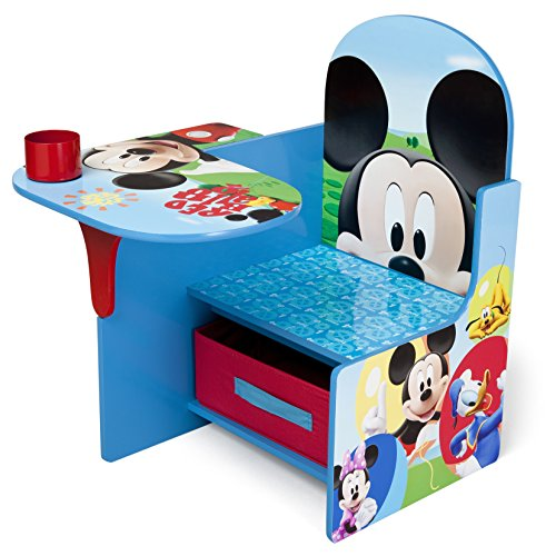 Delta Children Chair Desk With Storage Bin, Disney Mickey (Mickey Mouse Art)