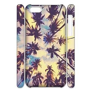 DIY iPhone 5C Case, Zyoux Custom 3D iPhone 5C Case Cover - Palm Trees