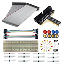 Eleduino Raspberry Pi GPIO T-Cobbler and Breakout Board Kit For Raspberry Pi 3 2 and B+ A+