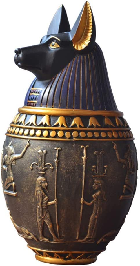 LIUSHI Ancient Egyptian Ornaments, Canopic Jar Egyptian Statues Egypt Travel Souvenirs Home Decorations,12 24.5cm