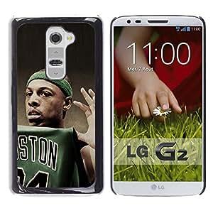 Boston Baloncesto - Metal de aluminio y de plástico duro Caja del teléfono - Negro - LG G2