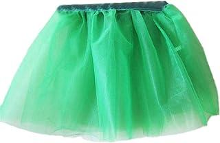 URSING Mädchen Prinzessin Pettiskirt Party Ballett Tutu Rock Minikleid Taufkleid Hochzeit Partykleid Kleinkinder Kleid Modische Unterkleid Schicke Falten Gaze Kurzer Rock