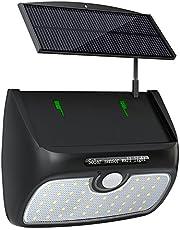 Babacom Lampe Solaire, [Séparable Panneau Solaire] 48 LED Lumière Détecteur de Mouvement Luminaire Extérieur/Intérieur Étanche Pour Jardin, Patio, Terrasse, Cour, Accueil, Allée, Escalier
