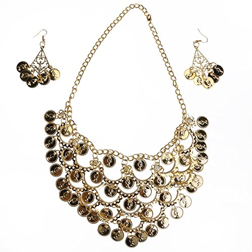 Belly Dance Accessories - BESTOYARD Belly Dance Jewelry Set Gold