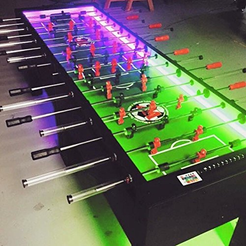 Warrior Table Soccer 8 Man Foosball Table W/LEDs
