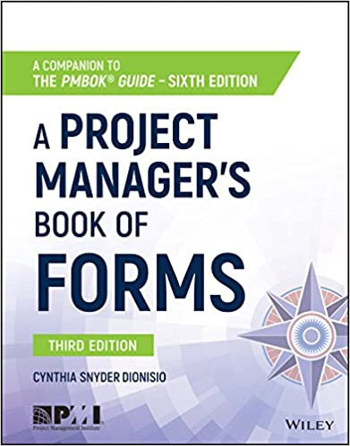 amazon com a project manager s book of forms a companion to the
