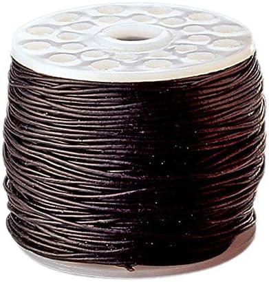 Gütermann/KnorrPrandell 2249280 - Bobina de 20 Metros de cordón de Cuero en Color Negro de 1,0 mm de Espesor [Importado de Alemania]