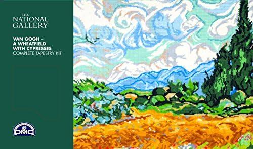 DMC Kit de Broderie National Gallery de/ /Un Champ de bl/é avec Cypr/ès/ /Van Gogh.