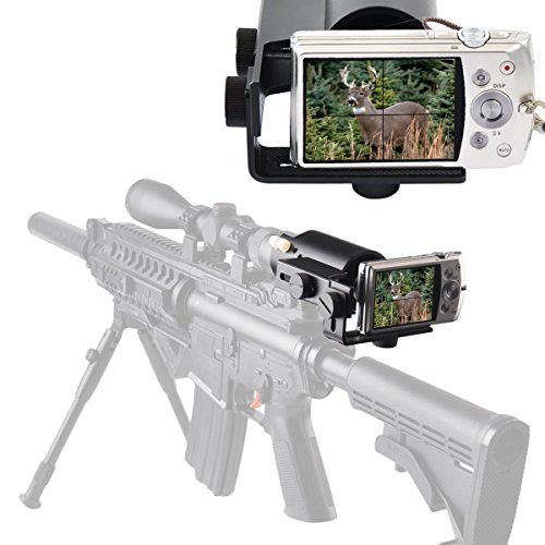 Scope Camera Mount for Rifle Scope Gun scope Airgun Scope-for Compact Camera Casio Sony Canon Nikon Fujifilm by Moutec