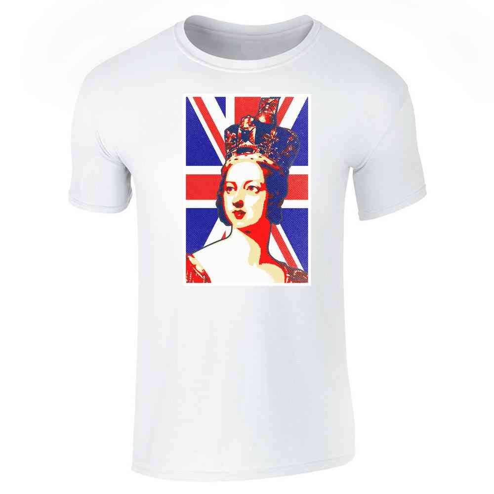 Queen Victoria Union Jack Pop Art Short Sleeve T Shirt 6272