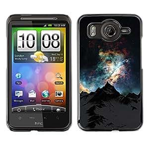 For HTC G10,S-type® Sky Mountain Alaska Universe - Arte & diseño plástico duro Fundas Cover Cubre Hard Case Cover