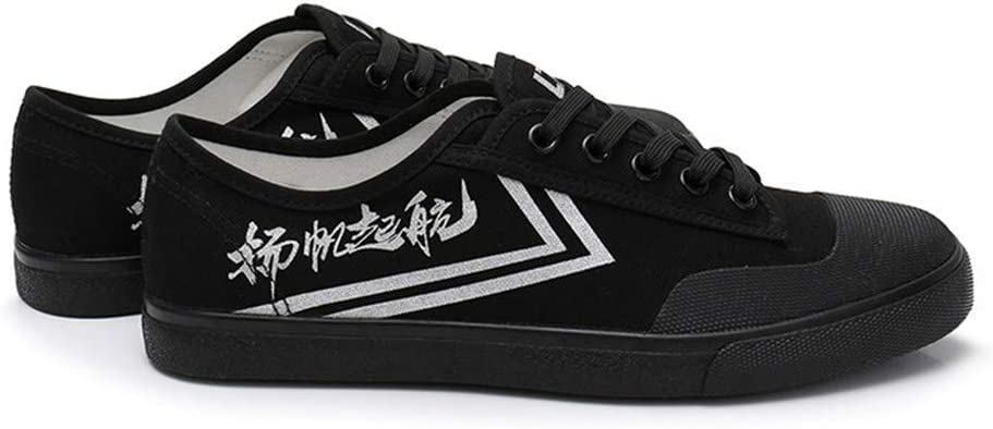 JJK Chaussures Unisexe Arts Martiaux L/éger Respirant Piste Formateurs Chaussures Non-Slip Toile Kung Fu Tai-Chi Sneaker,Blanc,38