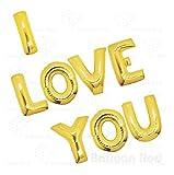 Avkeyy I LOVE YOU Balloons Banner ,Foil Balloons Letters Balloons...