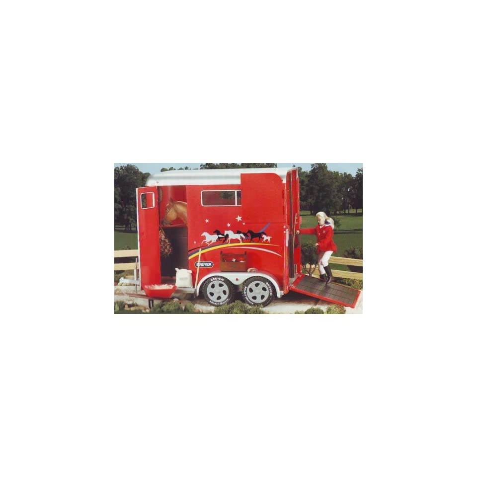 Breyer Traditional Red Horse Trailer