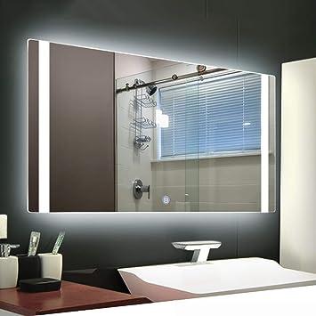 Rectangulaire Sans Cadre Lumineux Led Backlit Miroir Salle