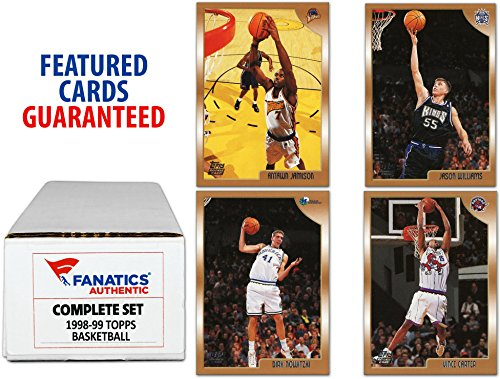 1998-99 Topps Basketball Complete Set 220 Cards - Fanatics Authentic Certified - Basketball Complete Sets by...