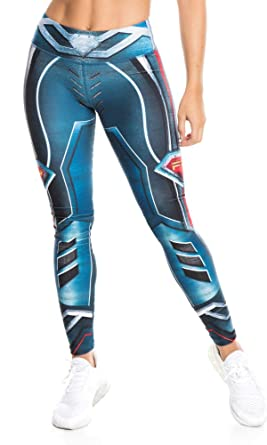 25bdf3c4279ff Fiber Printed Legging Superheroes Justice League Supergirl Superman at  Amazon Women's Clothing store: