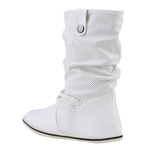 Japado - Botas plisadas Mujer Blanco - blanco