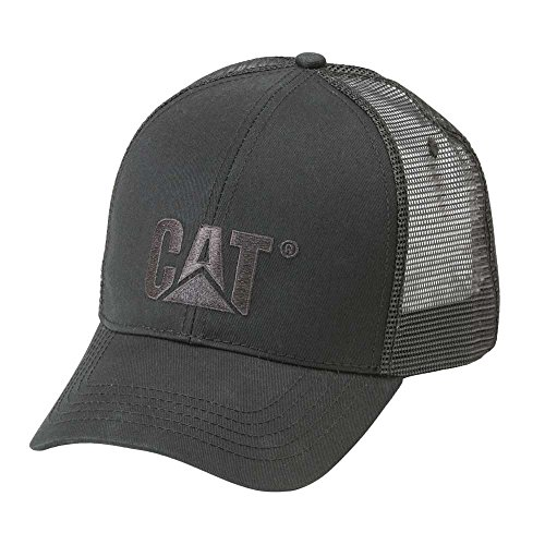 Caterpillar Men's Raised Logo Cap, Black, (Caterpillar Trucker Hat)