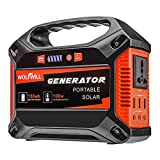 WOLFWILL 155Wh 42000mAh Portable Generator Power Inverter Emergency Battery Pack for Camping, Home, CPAP Power Supply Charged by Solar Panel/Wall Outlet/Car (110V AC, 3 USB Port, 12V DC Output)