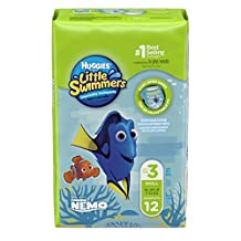 Huggies Little Swimmers Disposable Swim Diapers, Swimpants, Size 3 Small (16-26 lb.), 12 Count (Packaging May Vary)