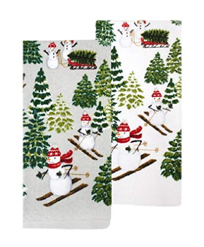 St.Nicholas Square Snowman Kitchen Towels Set of 2