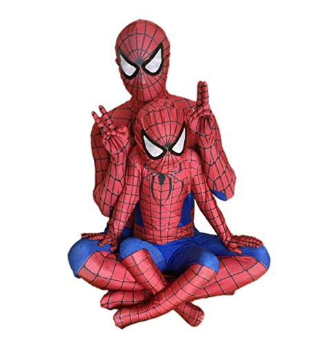 Spiderman Bodysuit Costume (Spider-Man Costume Child with adult Disguise Marvel Spider-Man 2 (Red & Blue) (M))