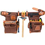 Occidental Leather 9855 Adjust-to-Fit Fat Lip Tool Bag Set, Cafe