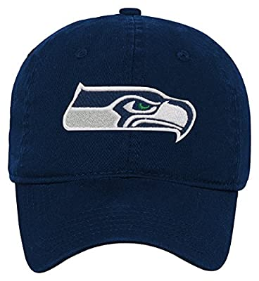Seattle Seahawks Navy Infants Primary Logo Washed Slouch Hat