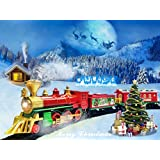 Classic Train Set for Kids Christmas Train Gift Set with Full Circle Train Track, Electric Rail Train and Christmas Tree Outdoor Indoor Toy (Children Over 3 Years Old)