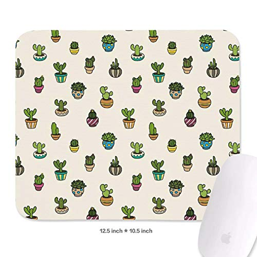 Cute Cactus Potted Mouse Pads Comfortable Mouse Pad Non-Slip Rubber Base Mousepad ()