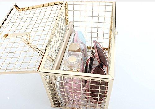 4 ragazze Donne Donna colore Borse 1 Squisito Metallo Borsetta bag Per borsa portafogli Sera Da In He BZTqc