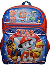 "Backpack - Paw Patrol - Team Player Red/Blue 16"" School Bag 100567"