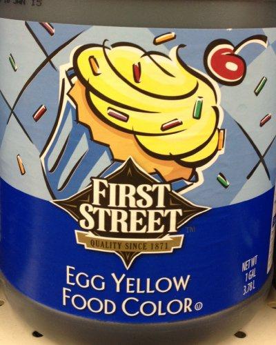 Amazon.com : 1 Gallon Egg Yellow Food Color Easter Egg Dye First ...