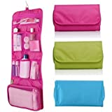 SHUANGYOU athroom Wall Hanging Storage Multipurpose Foldable Wall Hanging Dressing Kit Makeup Organiser Multi Utility Kit Travelling Kit Bag (Note : Color Will Be Send As Per Availability)