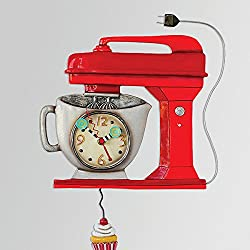 Vintage Mixer Red Clock Allen Designs
