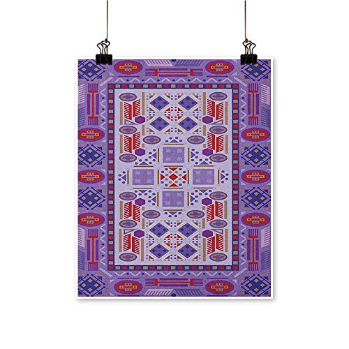 Afghan,Room Decor Timeless Tribal Pattern with Middle Eastern Folklore Traditional Afghan Shapes Dots W16 xL24 Teen Girl Room Decor